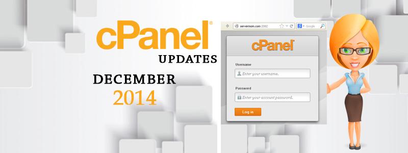 cPanel updates – December 2014
